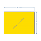 100mm x 73mm Yellow Labels - 82195