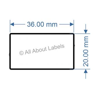 36mm x 20mm Nursery Synthetic Bopp Labels - 97NS3620(38)