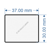 37mm x 30mm Labels - 82030