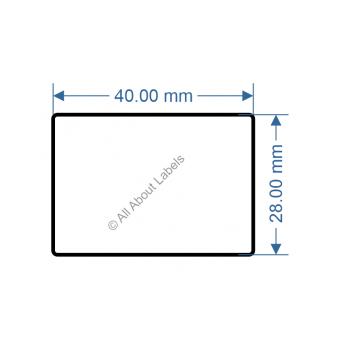 40mm x 28mm Nursery Synthetic Bopp Labels - 97NS4028(25)