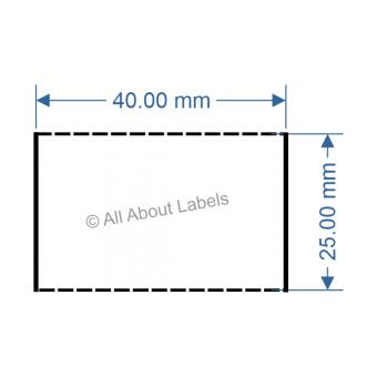 40mm x 25mm White DT Data Strip - 81048