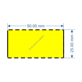 50mm x 25mm Yellow TT Data Strip - 82040