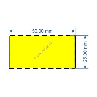 50mm x 25mm Yellow TT Data Strip - 82040