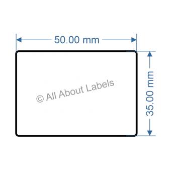 50mm x 35mm Nursery Synthetic Bopp Labels - 97NS5035(25)