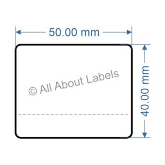 50mm x 40mm Nursery Synthetic Bopp Labels - 97NSPLE5040(25)