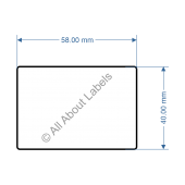 58mm x 40mm Scale Label - 82013