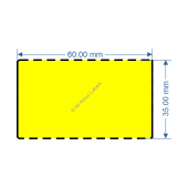 60mm x 35mm Yellow DT Data Strip - 82046