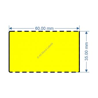 60mm x 35mm Yellow DT Data Strip - 82046