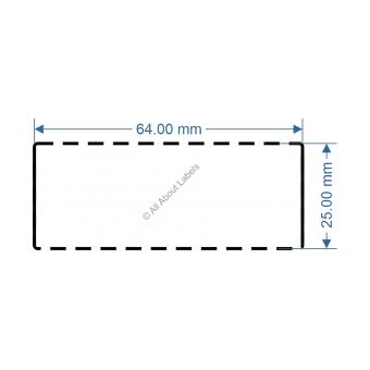 64mm x 25mm White DT Data Strip - 82035