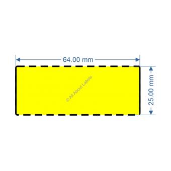 64mm x 25mm Yellow TT Data Strip - 82042