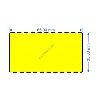 65mm x 35mm Yellow TT Data Strip - 82052