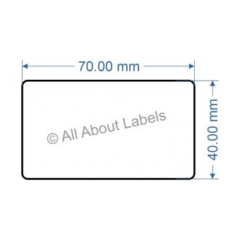 70mm x 40mm Nursery Synthetic Bopp Labels - 97NS7040(25)