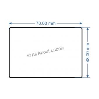 70mm x 48mm Nursery Synthetic Bopp Labels - 97NS57048(25)