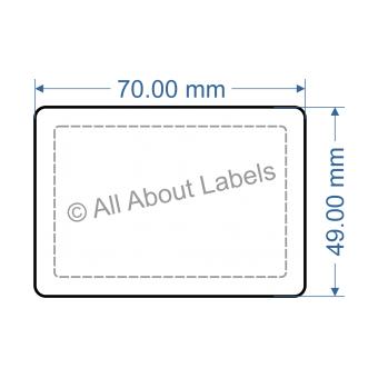 70mm x 49mm Nursery Synthetic Bopp Labels - 97NSSP7049(38)