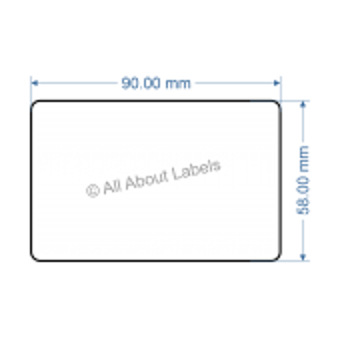 90mm x 58mm Nursery Synthetic Bopp Labels - 97NS9058(25)
