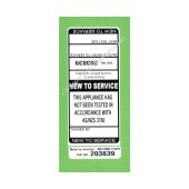 New To Service Test Tags