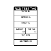 RCD Test Tags - Large